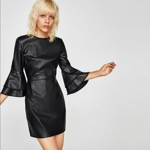 Never been worn faux leather dress from Zara